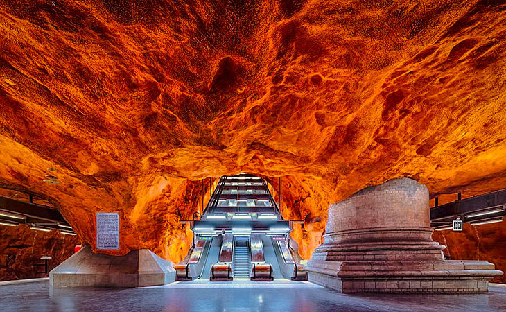 Stockholms vackraste tunnelbanestationer