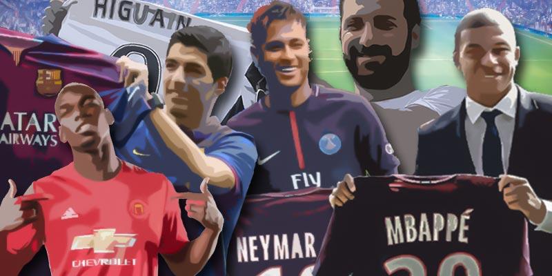 Världens dyraste fotbollsspelare
