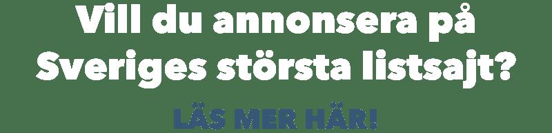 Annonsera på Listor.se