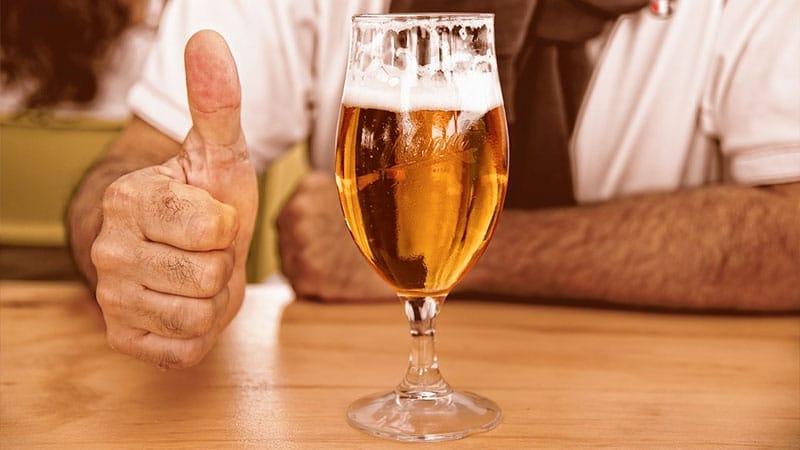 njursten dricka öl